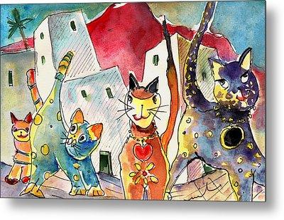 Cat Town In Lanzarote Metal Print by Miki De Goodaboom