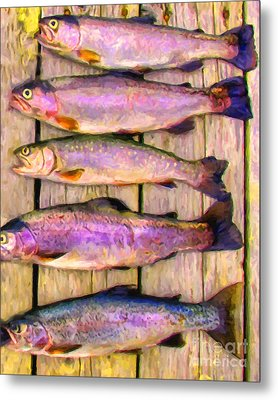 Catch Of The Day - Painterly - V1 Metal Print by Wingsdomain Art and Photography