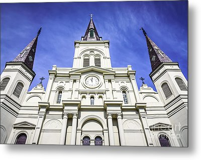Cathedral-basilica Of St. Louis King Of France Metal Print by Paul Velgos