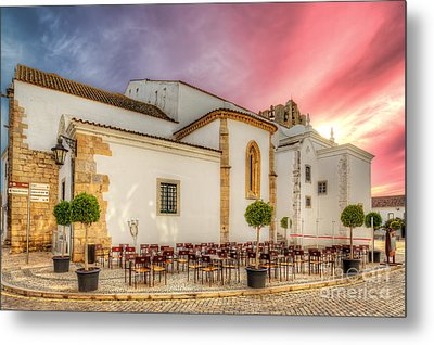 Cathedral Cafe Metal Print by English Landscapes