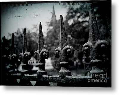 Cathedral Fence Metal Print by Scott Pellegrin