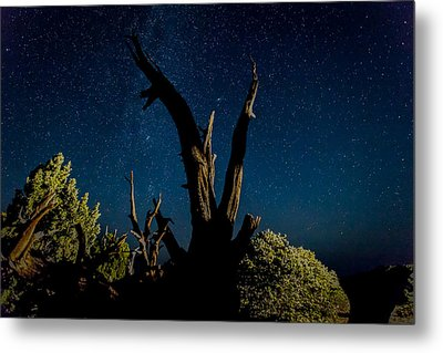 Cathedral Valley Night Sky Metal Print by Jennifer Grover
