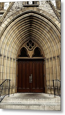 Catherdral Door's Metal Print by Kathleen Struckle