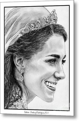 Catherine - Duchess Of Cambridge In 2011 Metal Print by J McCombie