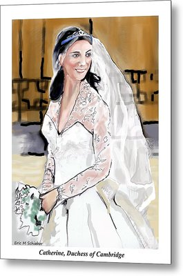 Catherine Duchess Of Cambridge Print  Metal Print by Eric  Schiabor