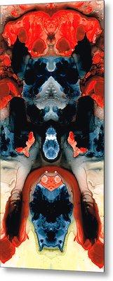 Catman Saves The World - Art By Sharon Cummings Metal Print by Sharon Cummings