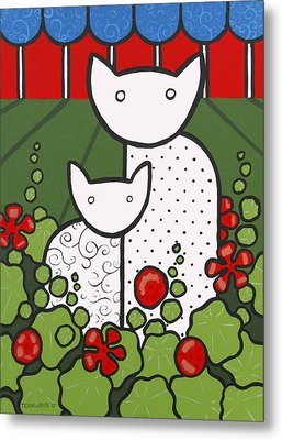 Cats 5 Metal Print by Trudie Canwood