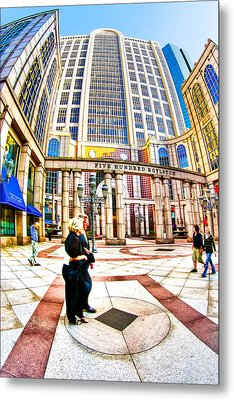 Caught In The Geometry Of Boylston Street Metal Print by Mark E Tisdale