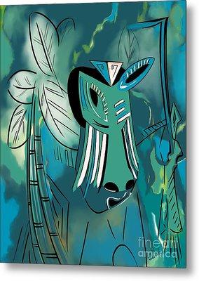 Cavamoru Metal Print by Barbara Drake