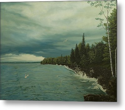 Cave Point Metal Print by James Willoughby III