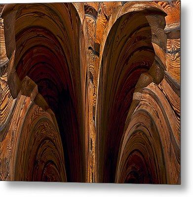 Caverns Of Wood Metal Print by Murray Bloom