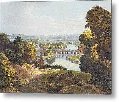 Caversham Bridge, Near Reading Metal Print by William Havell
