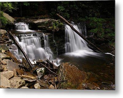 Cayuga Waterfalls Metal Print by David Simons