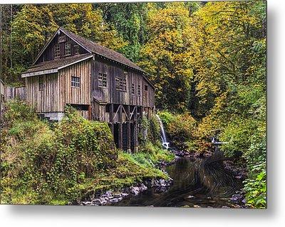 Cedar Creek Grist Mill Metal Print by Mark Kiver