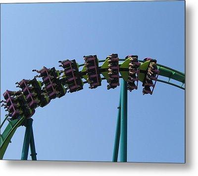 Cedar Point - Raptor - 12129 Metal Print by DC Photographer