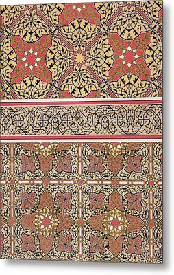 Ceiling Arabesques From The Mosque Of El-bordeyny Metal Print by Emile Prisse d Avennes