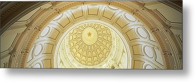 Ceiling Of The Dome Of The Texas State Metal Print by Panoramic Images