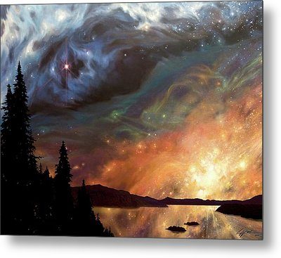 Celestial Northwest Metal Print by Lucy West