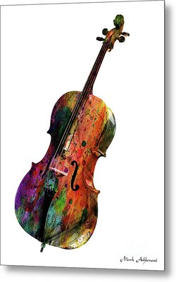 Cello Metal Print by Mark Ashkenazi