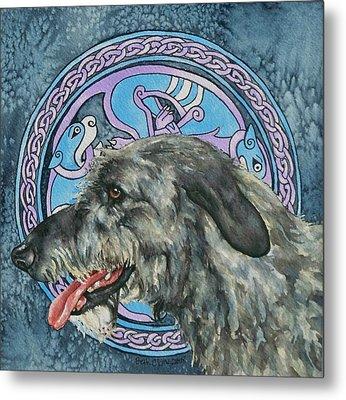 Celtic Hound Metal Print by Beth Clark-McDonal