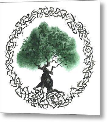 Celtic Tree Of Life 2 Metal Print by Sean Seal