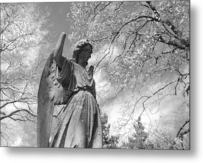 Cemetery Angel Metal Print by Jennifer Ancker