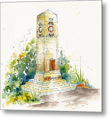 Cenotaph Clock Tower Metal Print by Pat Katz