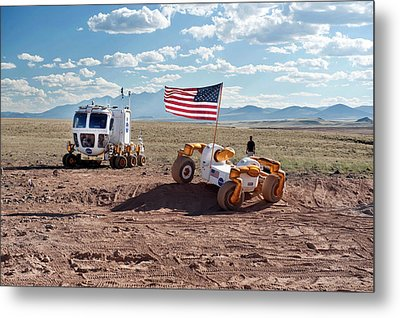Centaur Robonaut Rover Testing Metal Print by Nasa-johnson Space Center