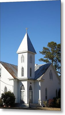 Center Hill United Methodist Church Metal Print by Carolyn Ricks