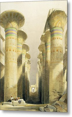Central Avenue Of The Great Hall Of Columns Metal Print by David Roberts