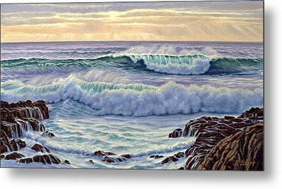 Central Pacific Surf Metal Print by Paul Krapf