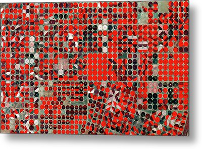 Central-pivot Irrigation Metal Print by European Space Agency/copernicus Sentinel Data (2015)