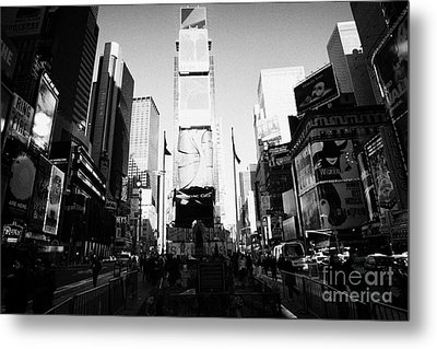 Centre Of Times Square In Daytime New York City Metal Print by Joe Fox