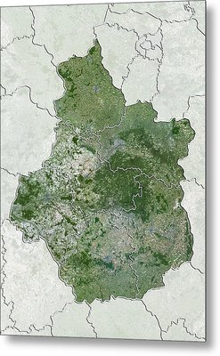 Centre Region, France, Satellite Image Metal Print by Science Photo Library