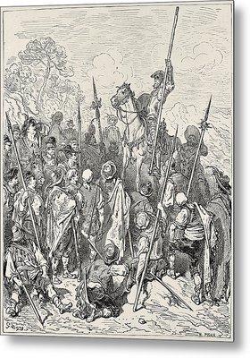 Cervantes Saavedra, Miguel De 1547-1616 Metal Print by Everett