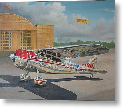 Cessna 195 Metal Print by Stuart Swartz