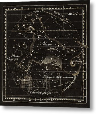 Cetus Constellations, 1829 Metal Print by Science Photo Library