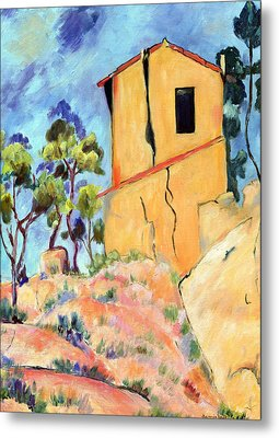 Cezanne's House With Cracked Walls Metal Print by Jamie Frier