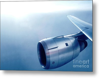 Cf6-6 Jet Engine For A Dc-10 Metal Print by Wernher Krutein