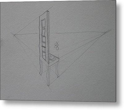 Chair Metal Print by AJ Brown