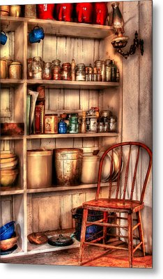 Chair - Chair In The Corner Metal Print by Mike Savad