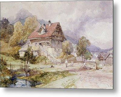 Chalet, Brunnen, Lake Lucerne Metal Print by James Duffield Harding