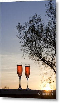 Champagne For Two Metal Print by Kay Pickens