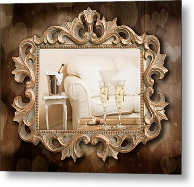 Champagne Frame Metal Print by Amanda And Christopher Elwell