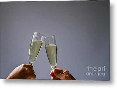 Champagne Toast Metal Print by Patricia Hofmeester