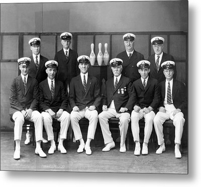 Champion American Bowlers Metal Print by Underwood Archives