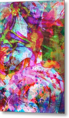 Chance Upon A Flower Metal Print by Michelle J Sergi