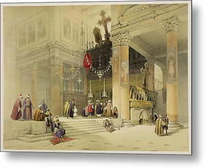 Chancel Of The Church Of St. Helena Metal Print by David Roberts