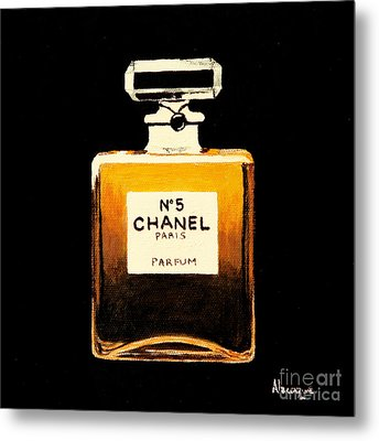 Chanel No. 5 Metal Print by Alacoque Doyle