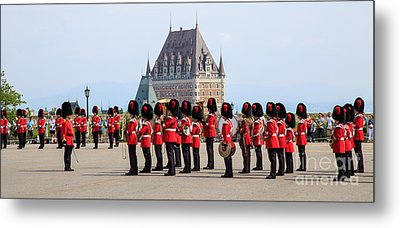 Changing Of The Guard The Citadel Quebec City Metal Print by Edward Fielding
